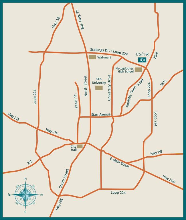 Cataract, Glaucoma & Retina Consultants of East Texas Map