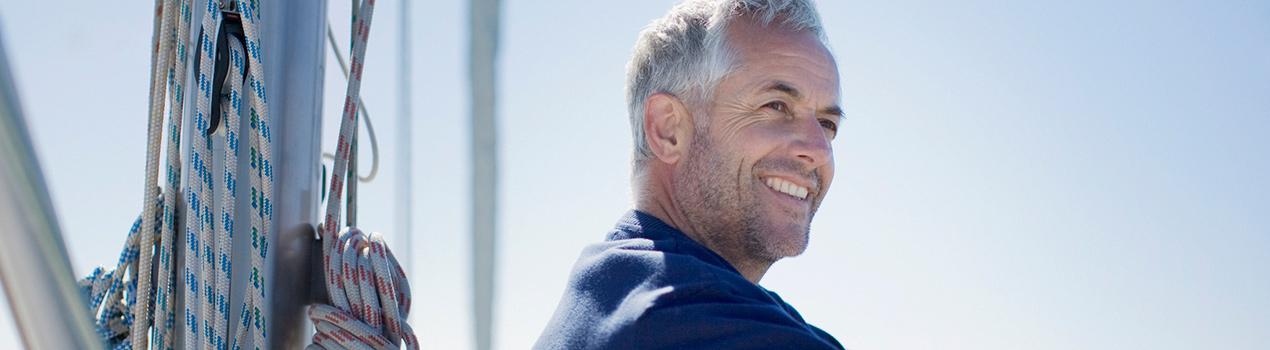 Man smiling after Retina treatment